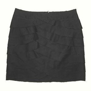 BCBG Black Scalloped Tiered skirt